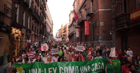 Manifestación por la ILP de vivienda en Madrid/ F.G.