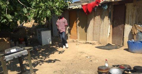 Assentament a Corbins (Segrià), on dormen cada nit una vintena de temporers en condicions precàries. / MM.