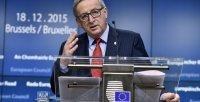 El presidente de la Comisión Europea, Jean Claude Juncker, durante  la rueda de prensa, al término de la segunda jornada de la Cumbre Europea. REUTERS/Eric Vidal