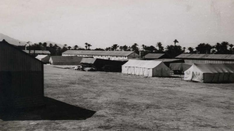 Instalaciones del campo de trabajo republicano, en 1938. / Luis Vidal (Biblioteca Digital Hispánica).
