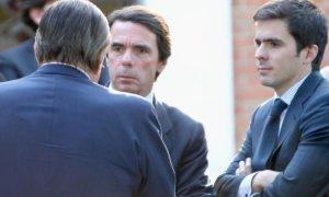 José María Aznar Botella, junto a su padre, el expresidente del Gobierno. EFE