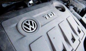 Un motor diesel EA189 de un Volkswagen Touran 2.0l TD que lleva el 'software' fraudulento.