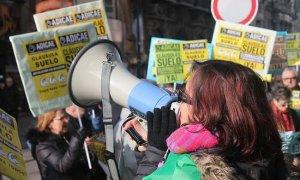 Protesta por las cláusulas suelo. (Imagen de archivo. ADICAE)