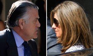 El extesorero del PP Luís Bárcenas y su esposa, Rosalía Iglesias | AFP