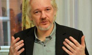 18/08/2014 - Assange durante una conferencia de prensa en la embajada de Ecuador en el centro de Londres  | REUTERS/ John Stillwell