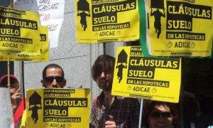 Una protesta contra las cláusulas suelo abusivas. EFE/Archivo.
