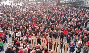 Pensionistas de Bizkaia celebran dos años de movilizaciones