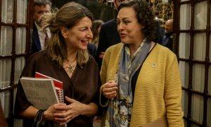 Yolanda Díaz y Magdalena Valerio en el Congreso