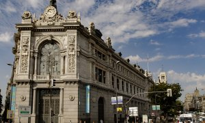 Fachada del edificio del Banco de España situada en la confluencia del Paseo del Prado y la madrileña calle de Alcalá. E.P./Eduardo Parra