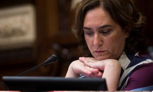 Ada Colau, alcaldesa de la ciudad de Barcelona. / EFE