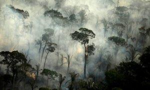 Vista aérea de los incendios forestales de la Amazonia. REUTERS/Bruno Kelly