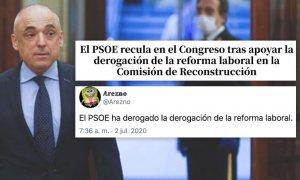 El PSOE vuelve a liarla con la derogación de la reforma laboral: Les entendimos mal, dijeron que iban a hacerse 'de rogar'