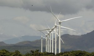 Parque eólico en Panamá. REUTERS