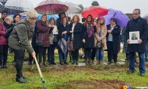 Imagen de archivo de un acto simbólico de exhumación realizado ante la fosa de Pico Reja. / Ayuntamiento de sevilla / Archivo