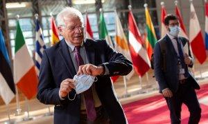 Josep Borrell a la llegada al Parlamento europeo. REUTERS.