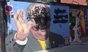 Boicotean el grafiti de J. Warx sobre el rey Juan Carlos en Valencia