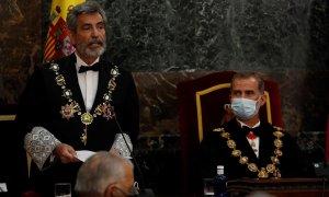 Carlos Lesmes con el rey