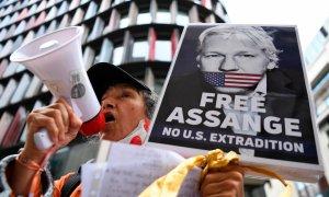 Protestas en contra de la extradición de Assange a EEUU en Londres. / EFE