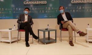 Présentation de CANABMED, Óscar Pares et Guillermo Baguería.  / SANTIAGO F. REVIEJO