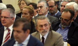 Luis Bárcenas, Francisco Correa y Pablo Crespo en uno de los juicios por la trama Gürtel / EUROPA PRESS