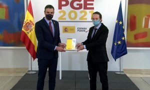 Pedro Sánchez y Pablo Iglesias presentan los nuevos PGE