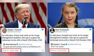 """""""Relájate, Donald, relájate"""": Greta Thunberg se la devuelve a Donald Trump casi un año después"""