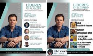 """""""Líderes en caspa"""": críticas (y memes) con el cartel de un seminario en """"liderazgo"""" dirigido por Albert Rivera"""
