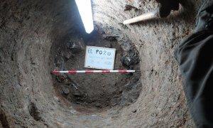 Foto general de 'El Pozo', situada a escasos kilómetros de Medina del Campo, donde la ARMH de Valladolid ha encontrado restos humanos a 31 metros bajo tierra.-