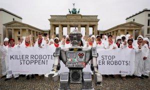 """Protesta contra los """"robots asesinos"""""""