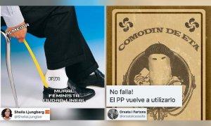 """Almeida saca el """"comodín de ETA"""" para defender la retirada del mural feminista de Ciudad Lineal"""
