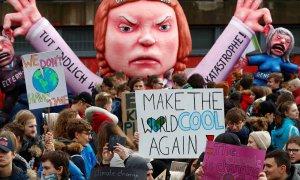 Imagen de archivo de una manifestación contra el cambio climático en Duesseldorf, Alemania. REUTERS