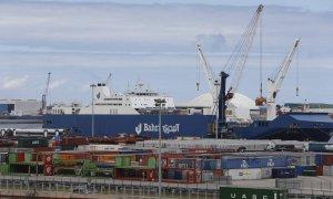 Barco de la naviera Bahri