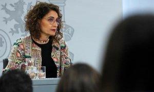 María Jesús Montero en rueda de prensa tras el Consejo de Ministros de este martes.