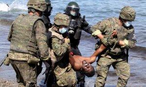 Inmigrantes ceuta ejército