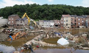 Vista de la ciudad de Pepinster, en Bélgica, después de las inundaciones que han azotado a los paises centroeuropeos en julio de 2021.