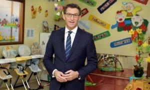 Feijóo, en su mensaje de Fin de Año en el 2015 en una escuela infantil de A Coruña.