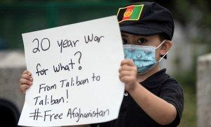 Pancarta por Afganistán