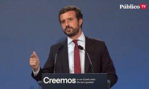 Casado asegura que si llega a ser presidente prohibirá los indultos de los delitos de sedición y rebelión