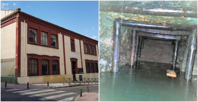 Encuentran un posible refugio de la Guerra Civil en un antiguo colegio de Vallecas