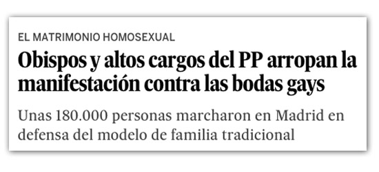 Noticia de 'El País' en junio de 2005.