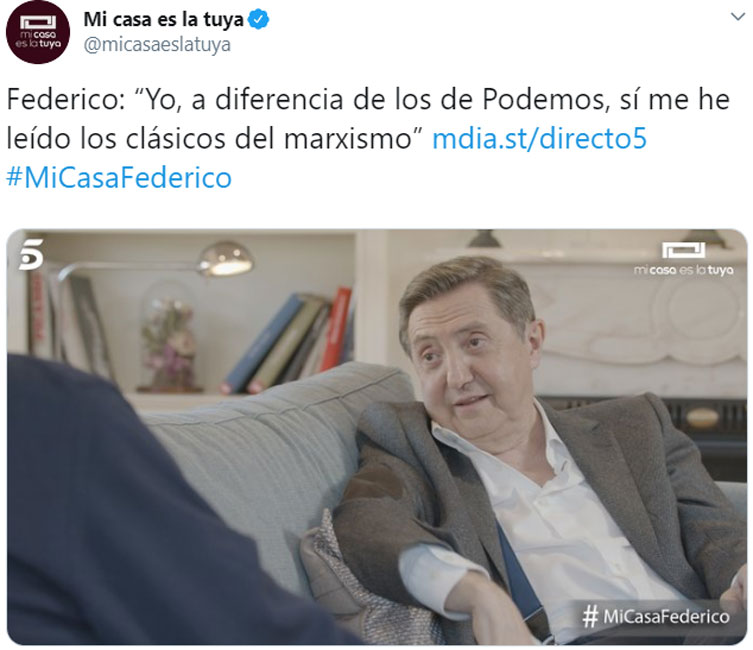 Entrevista entre Bertín Osborne y Jiménez Losantos en 'Mi casa es la tuya'.