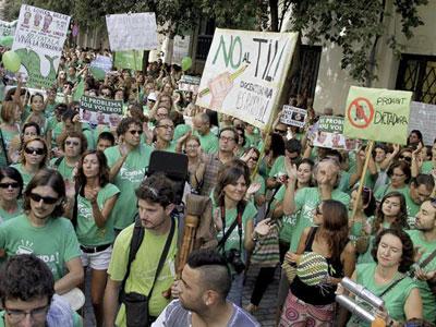 Los profesores baleares en huelga mantienen el pulso al Govern