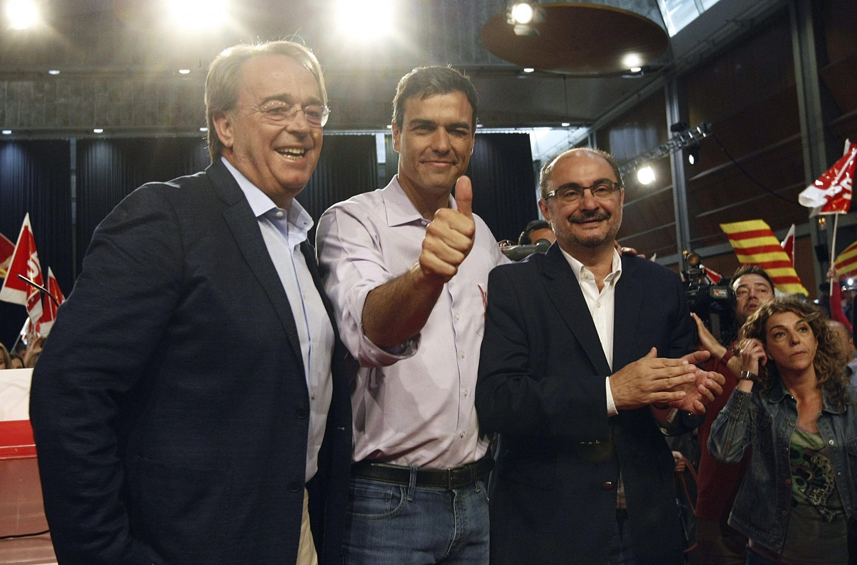 Lambán, Pérez Anadón y Sánchez