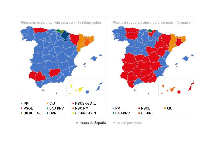 Mapa De Elecciones 2015.Sigue El Escrutinio Este Domingo En Tiempo Real Con El