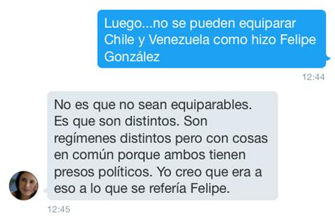 Sobre Pinochet y Felipe González