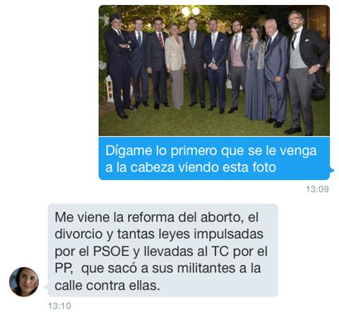 Sobre Rajoy en la boda de Maroto