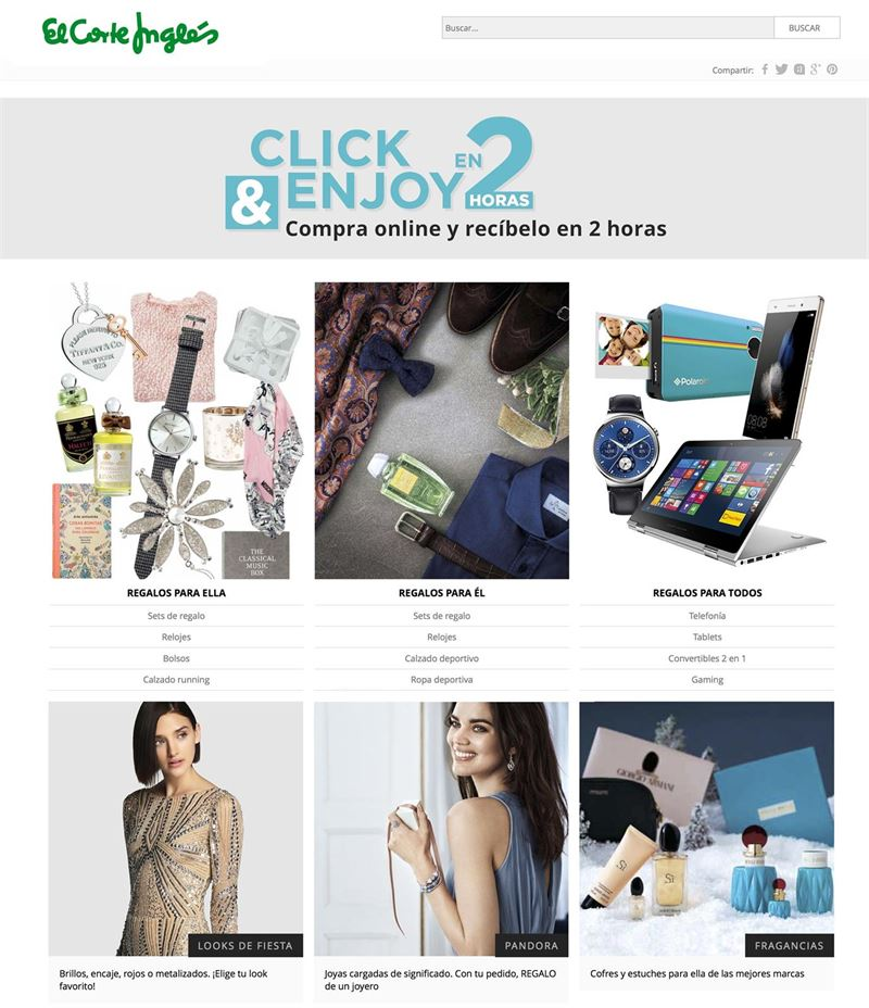 a2ff49ddc03 El Corte Inglés desafía a Amazon y lanza un servicio de compra on-line con  entrega en sólo dos horas