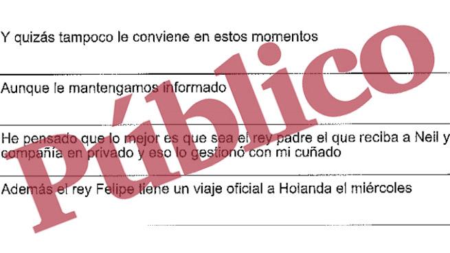 Mensajes de López Madrid difundidos por Público.