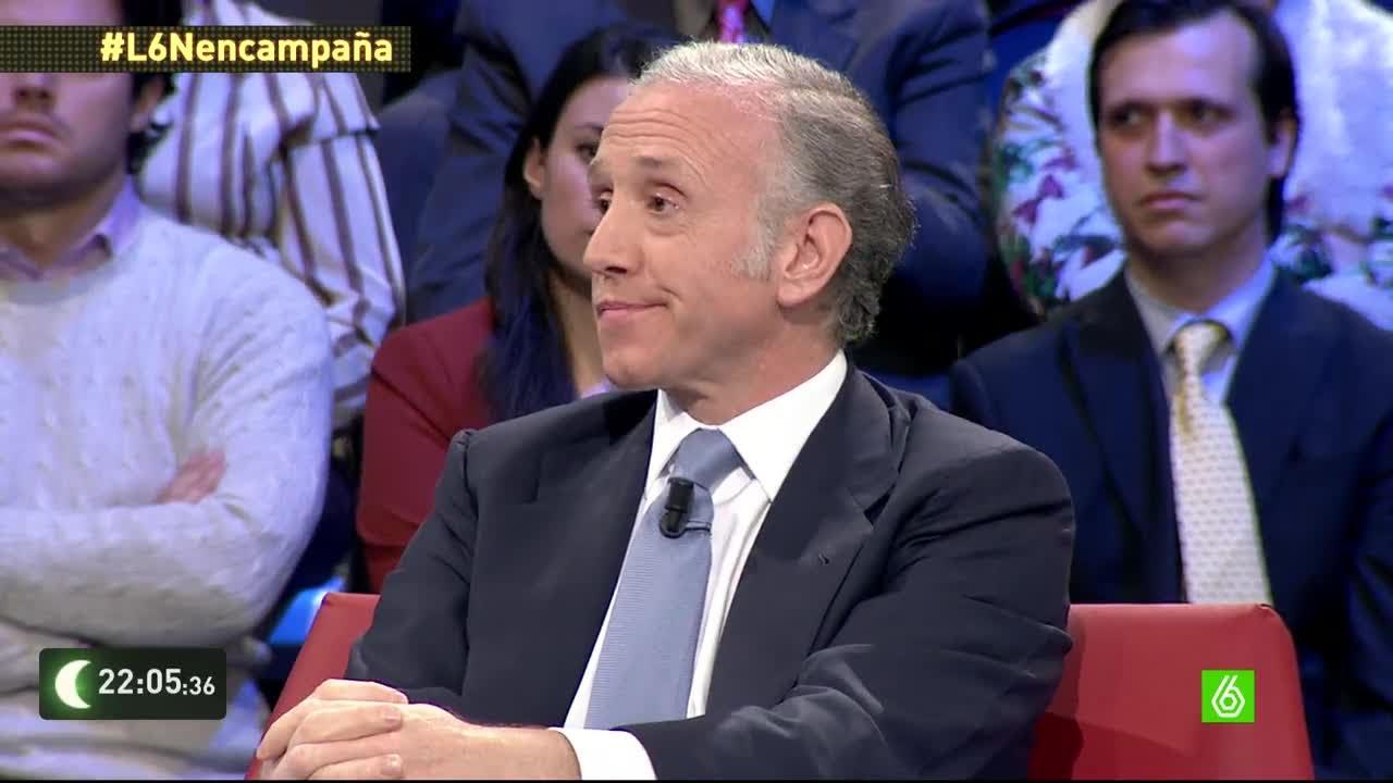 El periodista Eduardo Inda en una de sus intervenciones en el programa 'La Sexta Noche', en La Sexta.