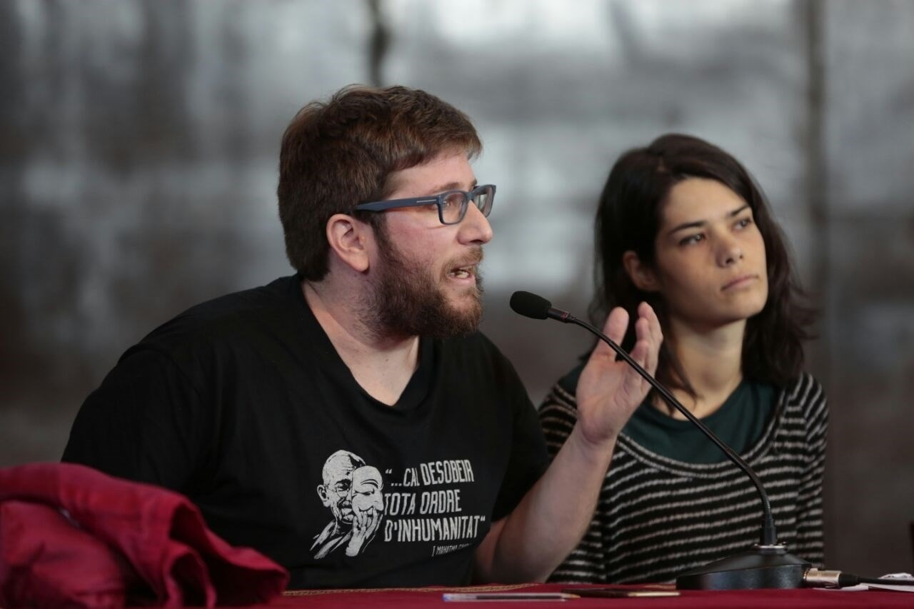 Miguel Urban e Isabel Serra, de Anticapitalistas. E.P.